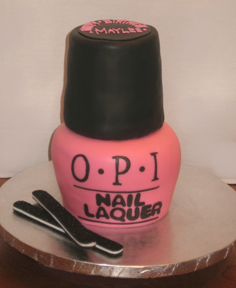 Nail Cake: Nail Polish Bottle Cake