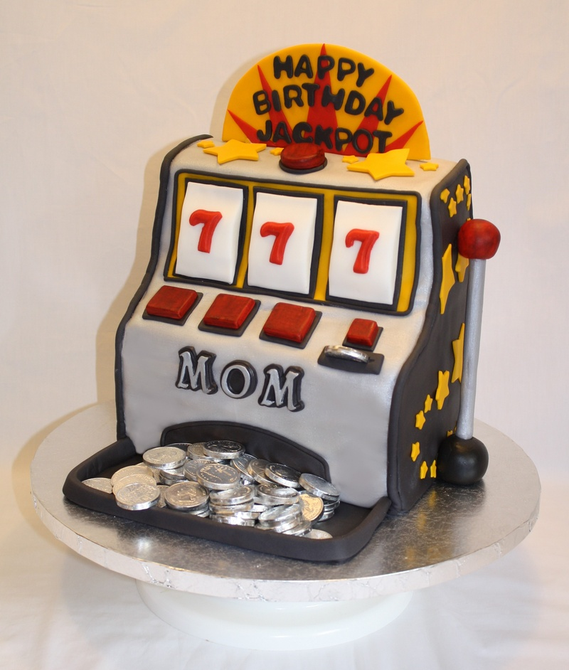 casino machine cake