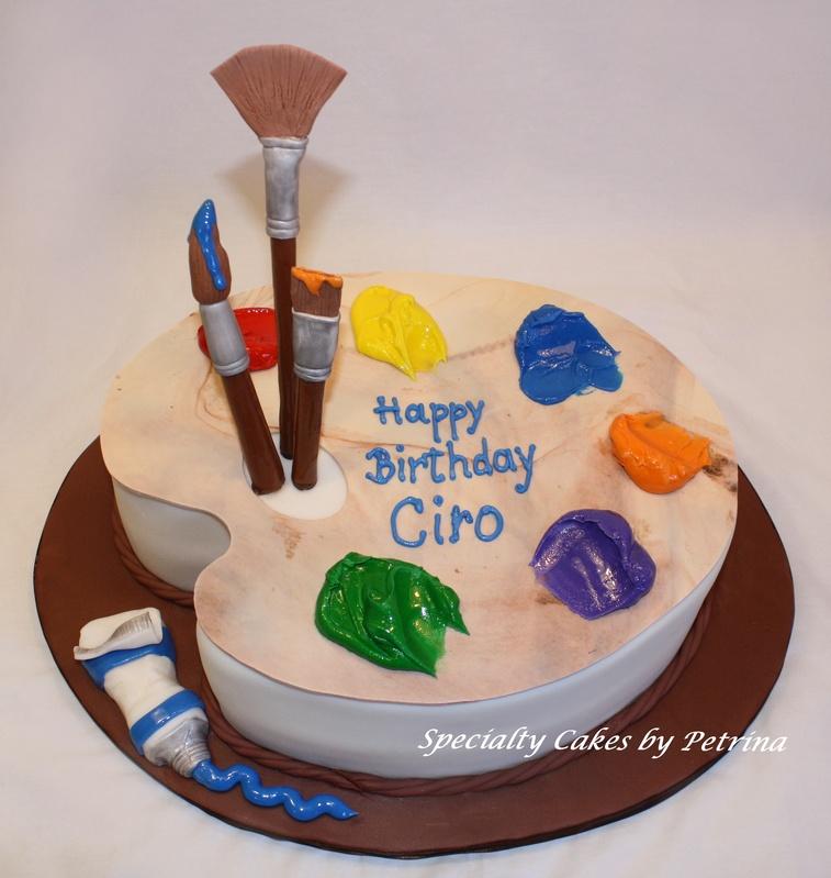 Cake Artist : Pin Painters Palette   Childrens Cakes Cake on Pinterest