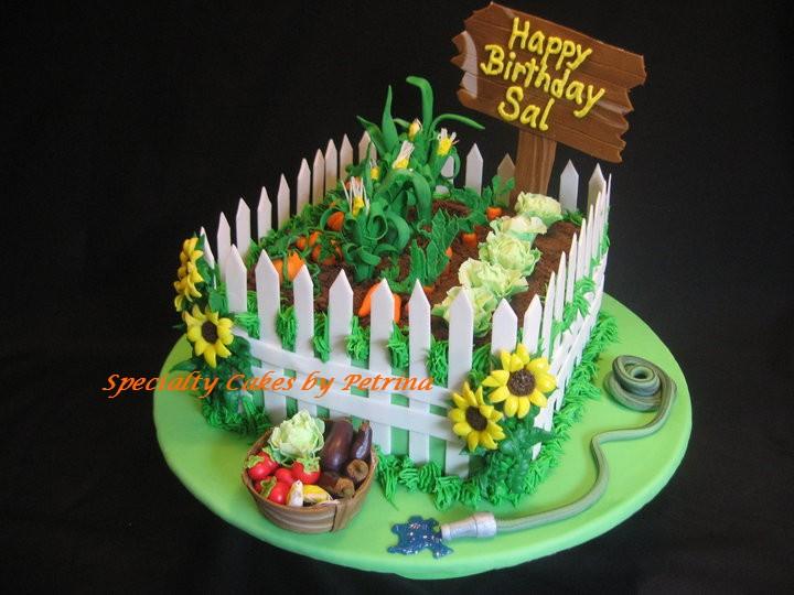 Vegetable garden cake specialty cakes by petrina llc for Garden theme cake designs